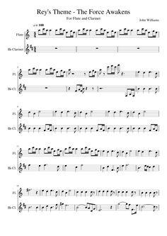 star wars sheet music clarinet