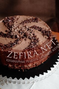 Торт с маскапрпоне и шоколадом