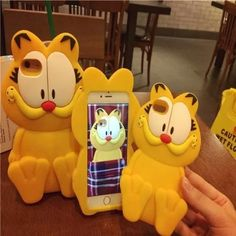 Awesome Cute Garfield Disney Silicone Iphone 6 Plus / 6s Plus Phone Case  Two Cute Design, can't wait to get them!!