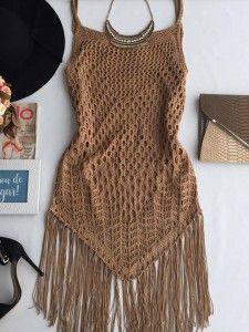 Crochet knit look 59 ideas Motif Bikini Crochet, Débardeurs Au Crochet, Mode Crochet, Crochet Stitches, Crochet Fashion, Diy Fashion, Fashion Outfits, Crochet Clothes, Diy Clothes