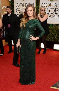 Can't go wrong with a green sequin gown...