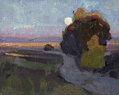 Eric Bowman - Tualatin Moon- Oil - Painting entry - October 2015 | BoldBrush Painting Competition