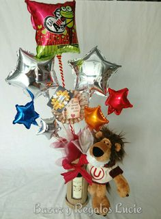 LUCIE Regalos Balloon Arrangements, Pink Candy, Balloons, Valentines, Chocolate, Birthday, Holiday, Party, Gifts