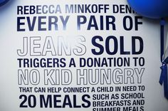 Rebecca Minkoff Denim Working With No Kid Hungry