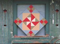 pinwheel variation barn quilt fb/uncommonplace.hokah