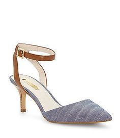 c6dade50eee Louise et Cie Esperance Denim Ankle Strap Pointed-Toe Pumps
