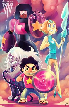 Steven and the Crystal Gems Steven Universe 11 x 17 by Wizyakuza Gumball, Really Cool Wallpapers, Cartoon Network Shows, Gamer Pics, Kawaii, Anime One, Geek Art, The Wiz, Cool Artwork