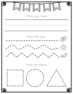 These pre-writing worksheets are perfect for beginning writers! Use as a typical worksheet, or laminate to reuse daily. My students use this every morning while I need them to work independently. They are always so proud of their progress and I love that they are practicing such critical skills while I am working with other students.