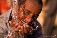 "charity: water. Mission: ""Bringing clean and safe drinking water to people in developing nations."""