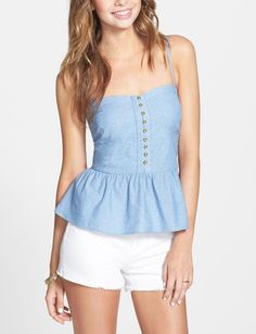 Pretty little denim peplum.
