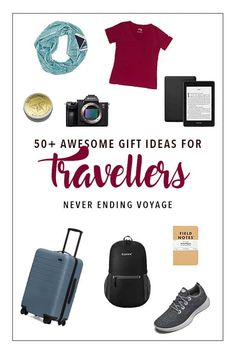 Wondering what to get the traveller in your life? Here are 50 practical ideas! Best Travel Gadgets, Best Travel Gifts, Best Gifts, Travel Advice, Travel Tips, Travel Packing, Packing Tips, Travel Luggage, Solo Travel