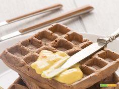 WAFFLES al MANGO SENZA UOVA senza glutine + vegan  #ricette #food #recipes