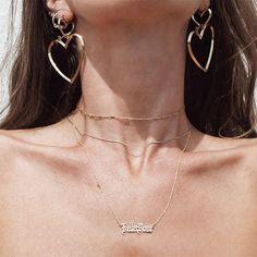 DOUBLE HEART HOOP EARINGS ... Shop online at www.kukaandkilla.com