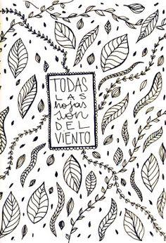 flor cornara / trabajos para el flaco I tinta sobre papel / abril 2015 #spinetta #illustration #quote #leafs