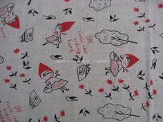 L331 - Jute Linen Fabric - Little Red Riding Hood - 27 x 19(70 x 50cm)