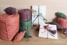 Flaxcord from Vivant decorations new color addition to this beautiful jute cord. How To Make Rope, Handmade Crafts, Handmade Products, Twine, Gift Wrapping, Joy, Beautiful, Cords, Packaging