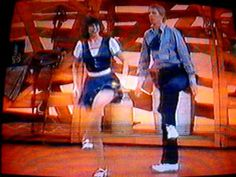 Sonja and Keith Brady clogging on Hee Haw 1984