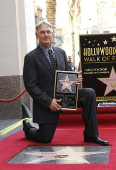 Mark Harmon on Hollywood Walk of Fame, October 1st 2012 getting his star. Congrats! Definitively long overdue!!