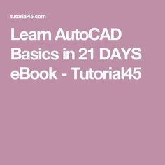 Download pdf of autocad 2015 and autocad lt 2015 bible solidworks interested in autocad tutorial here is a series of autocad basic tutorials to help you master the basics in only 21 days fandeluxe Gallery