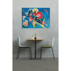 KANDINSKY - Im Blau #artprints #interior #design #art #print #iloveart #followart #artist #fineart #artwit  Scopri Descrizione e Prezzo http://www.artopweb.com/autori/wassily-kandinsky%20/EC16073