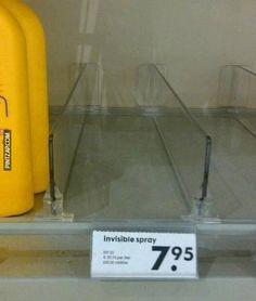 Spray invisible . Click para ver la imagen.