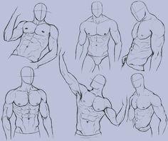 Anatomy Drawing Tutorial Man Anatomy Practice 2 by KingMaria on deviantART - Human Figure Drawing, Figure Drawing Reference, Art Reference Poses, Anatomy Reference, Body Reference, Human Anatomy Drawing, Drawing Body Poses, Anatomy Art, Drawing Art