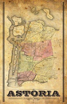 Vintage Astoria Maps -- Lockwood