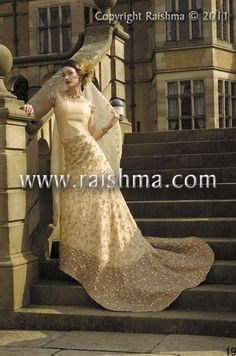 Beautiful outfit, great if you are after more of a fusion look -www.raishma.co.uk