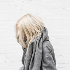 simple grey jacket and scarf