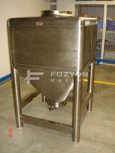 Flowbin Tank - 750 litre IBC flowbin Konteyner | Füzyon Makina