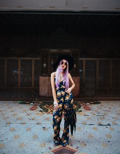 #boho #bohemian #missguided #jumpsuit #roses #stardustbohemian #roses #lackofcoloraus #hat #fashion #style #lavender #hair #blogger #fashionblogger