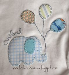 Discover thousands of images about Color patchwork baby jacket inspiration [] # # # Baby Quilt Patterns, Applique Patterns, Quilt Baby, Applique Quilts, Applique Designs, Embroidery Designs, Baby Applique, Baby Embroidery, Machine Embroidery