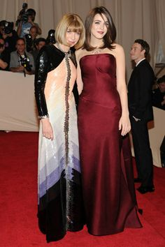 Anna Wintour, in Chanel Haute Couture, with Bee Shaffer, in Balenciaga. photo tag