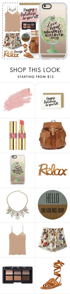 """Relax it's Sunday!😎"" by casetify ❤ liked on Polyvore featuring Jane Iredale, Yves Saint Laurent, Casetify, ABS by Allen Schwartz, Bloomingville, Etro, Chicnova Fashion, NARS Cosmetics and Gianvito Rossi"