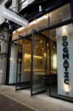 Dogmatic Restaurant in New York City by New York based EFGH Architects