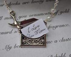 Fantastic gift idea for Mother's Day Envelope Necklace secret message by alejandracc, $18.00