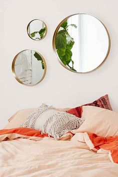 Shop Averly Circle Mirror at Urban Outfitters today. We carry all the latest styles, colors and brands for you to choose from right here. Cozy Bedroom, Dream Bedroom, Bedroom Decor, Light Bedroom, Mirror Bedroom, Home Decor Items, Cheap Home Decor, Mirrors Urban Outfitters, Bedroom Ideas Pinterest