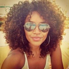 Curly Natural Hair.