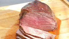 Prime Rib, recipe, Preheat the oven to 500 degrees F degrees C).Make slits all over the roast by pricking with a small knife. Insert slivers of sliced garlic. Season the roast with salt and pepper, then spread generously with mustard. Standing Rib Roast, Prime Rib Recipe, Prime Rib Roast, Rib Recipes, Diet Snacks, Side Dishes Easy, Main Dishes, Mushroom Recipes, Popular Recipes