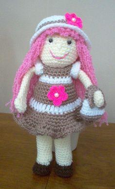 "Crochet Doll ""Polly Pink"""