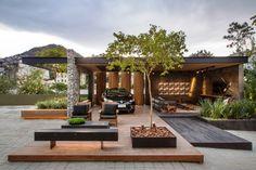 garagem renault casa cor rio (1) Lounge, Rural Area, Steel Frame, Villa, New Homes, Patio, Landscape, Outdoor Decor, Home Decor