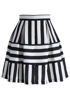 Playful Stripes A-line Skirt - Retro, Indie and Unique Fashion