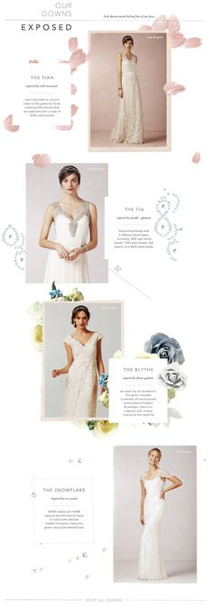 Modern & romantic wedding dresses, bridal gowns, bridesmaid dresses, formal dresses & accessories curated by BHLDN, Anthropologie's wedding brand. Vintage Inspired Wedding Dresses, Wedding Dresses With Flowers, Vintage Dresses, Dress Wedding, Wedding Vintage, Lookbook Layout, Lookbook Design, Graphic Design Blog, Design Web
