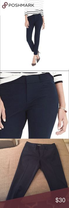 Banana Republic Navy Jackson Pant Size 8 Great pair of pants! Size 8 no longer fits me. Beautiful navy color. In wonderful condition. Perfect length. Banana Republic Pants Skinny