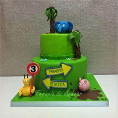 Jungle Junction Cake  Bolo Selva sobre Rodas
