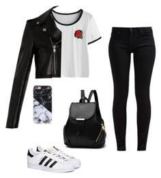 One by pilsoneta on Polyvore featuring polyvore, fashion, style, Yves Saint Laurent, 7 For All Mankind, adidas and clothing