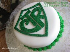 Baptism.  Choose the Right.  CTR cake.  Eight is Great.  LDS.  Latter-Day Saint.  Mormon.