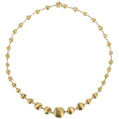 Marco Bicego Africa Necklace (€3.175) ❤ liked on Polyvore featuring jewelry, necklaces, 18k necklace, tribal necklace, gold tribal necklace, golden jewelry and hand crafted jewelry