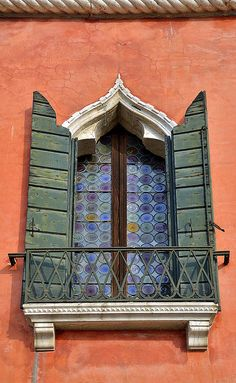 In Venice the charm is everywhere. Old Windows, Windows And Doors, Gates, Window View, Window Boxes, Window Shutters, Venice Italy, Verona Italy, Puglia Italy