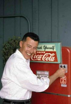 When you could get a bottle of COKE from the machine for 10 cents in the 50s!